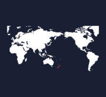 World Map New Zealand by jezkemp