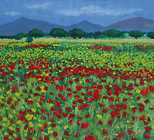 Mallorcan Flowerfield by olivia-art