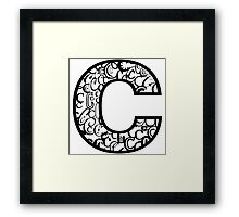 The Letter C, white background Framed Print