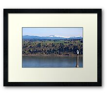 View of Columbia river from Crown Point Framed Print