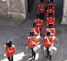 English Guards Marching into the Tower of London by rnicho5
