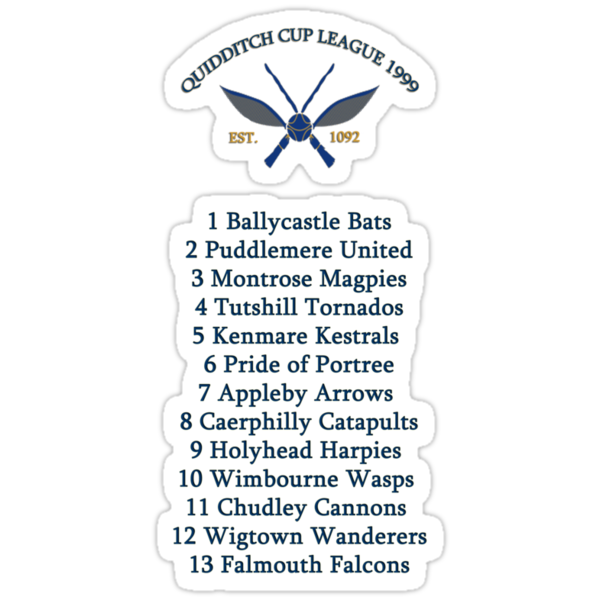QUIDDITCH CUP LEAGUE by ludlowghostwalk