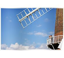 Cley Windmill - Love is in the air Poster