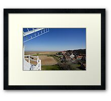 Cley windmill - the view from the fan-stage Framed Print
