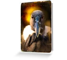 "Smile and say ""Carrion"". Andean Condor Portrait Greeting Card"