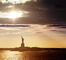 Statue of Liberty at Sunset by Rebecca  Haegele