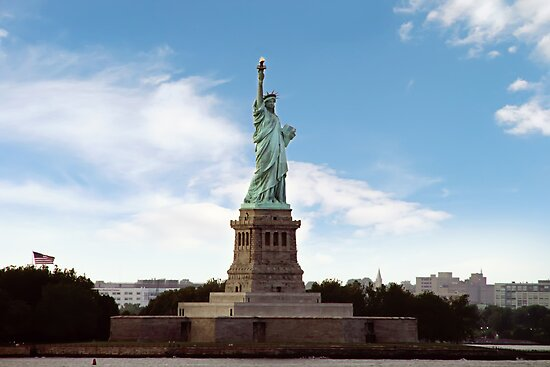 Statue of Liberty, Ellis Island by Rebecca  Haegele