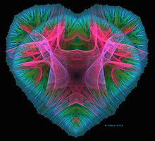 Stained Glass Heart by Kim Pease