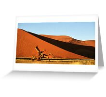 Dunes, Dead Tree & Dry Tsauchab River Valley, Namibia  Greeting Card