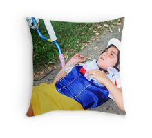 Snow White Portrait Throw Pillow