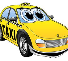 Taxi Cab Cartoon by Graphxpro