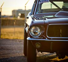 Mustang Fastback at the drag strip by calgecko