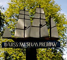 MVP91 Darss Museum sign, Prerow, Germany. by David A. L. Davies