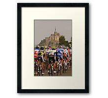 Mont Saint Michel - Tour de France Framed Print