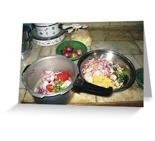 In Kitchen Greeting Card
