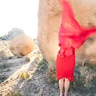 Abstract Red Woman by Antaratma Images