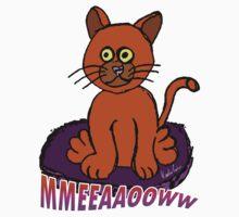KT Designs Meow Cat T-Shirt by ktdesigns