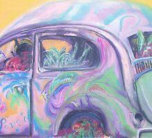 Flower Power (pastel) by Niki Hilsabeck