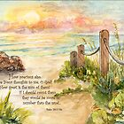 Beach Post Sunrise -Psalm 139:17-18a by Janis Lee Colon