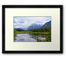 Mt.  Rundle As Seen From  Vermillion Lakes Framed Print