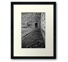 Execution courtyard at Kilmainham gaol Framed Print