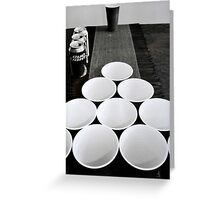 Beer Pong at Best Greeting Card