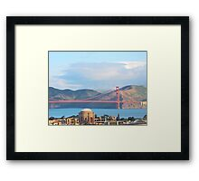 Palace Of Fine Arts and The Golden Gate Bridge Framed Print