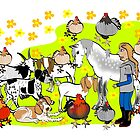 Farm Yard Card 2 by Diana-Lee Saville