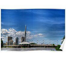 """Sals on the Bridge""..Winnipeg, Canada. Poster"