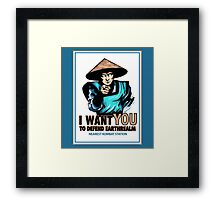 I Want YOU For Kombat Framed Print