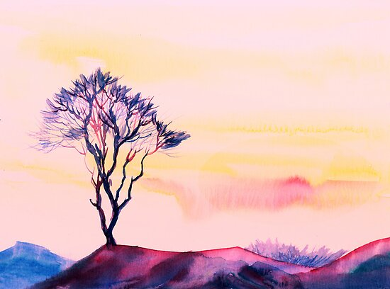 At peace with solitude by Anil Nene