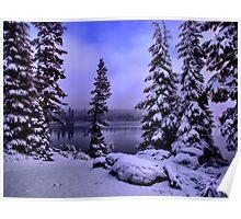 Big Lake Winters Day Poster