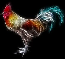 Rooster - Chinese Zodiac by Liane Pinel by Liane Pinel