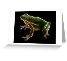 Medicine Wheel Totem Animals by Liane Pinel- Frog Greeting Card