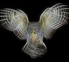 Medicine Wheel Totem Animals by Liane Pinel- Owl by Liane Pinel