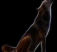 Medicine Wheel Totem Animals by Liane Pinel- Wolf by Liane Pinel