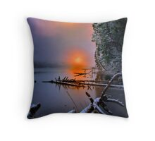 Sunset in the Cascades Suttle Lake Throw Pillow