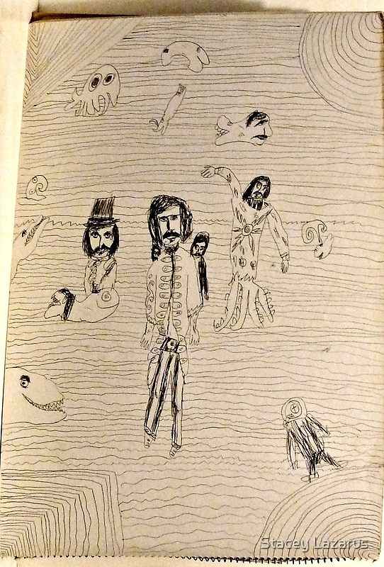 Twenty Thousand Leagues Under the Sea ~ 1970 Sketch by Stacey Lazarus