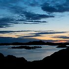 Night shot from Geitungen lighthouse by Algot Kristoffer Peterson