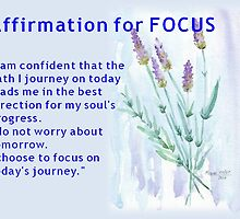 Affirmation for FOCUS by Maree  Clarkson