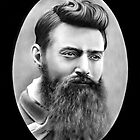 Ned Kelly Portrait drawing by John Harding
