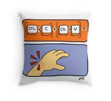 Data Entry Throw Pillow