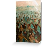 Knights and champions - football fans related artwork Greeting Card