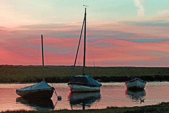 Blakeney Boats by Beverley Barrett