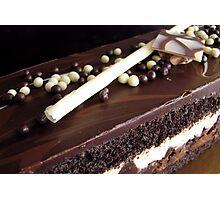 Chocolate truffle cake 2 Photographic Print
