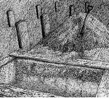 God Forgive Me (Panel 2) My Open Grave Awaits Me Next to the Tombstones of the Seven Deadly Sins. by W. H. Dietrich