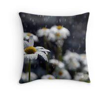Summer Showers Haiku Throw Pillow