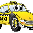 Taxi Cab Car Cartoon by Graphxpro
