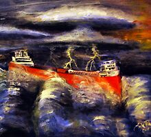Stormy Waters by Ljartdesigns