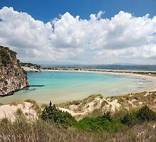 Beaches of Greece - Famous Voidiokoilia Beach  by nickthegreek82